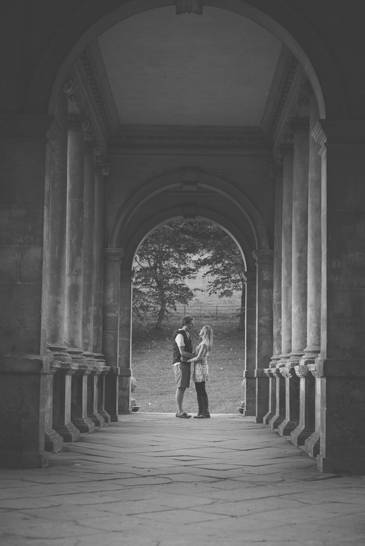 Engagement at Prior Park in Bath - Bex & Adam // Black and white photography // Matt Fox Photography - blog