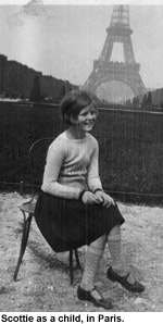 Scottie fitzgerald as a child in Paris.