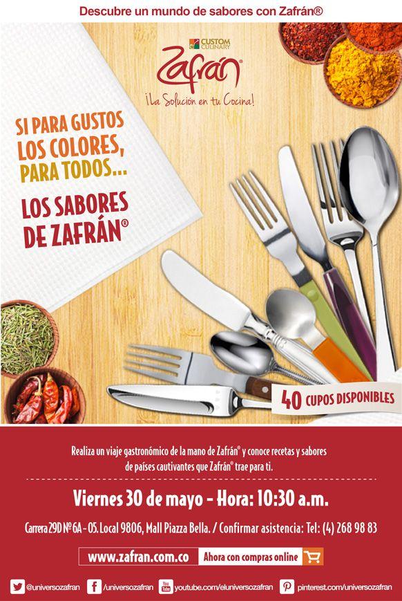 Taller cocina para todos. Descarga el recetario de este taller en el siguiente enlace http://www.zafran.com.co/taller-cocina-para-todos/