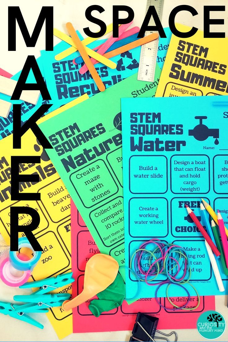 STEM SQUARES MakerSpace Choice Boards SET 1 | ***All things ...