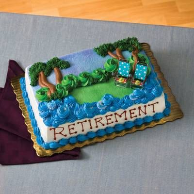 Slice of Life - Retirement cake for Dad on Saturday