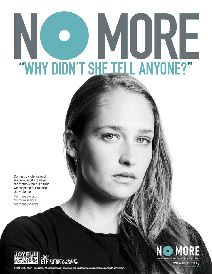 "Jemima Kirke: ""#NOMORE ""why didn't she tell anyone?""   #NOMOREexcuses. Join us in saying NO MORE to domestic violence & sexual assault."