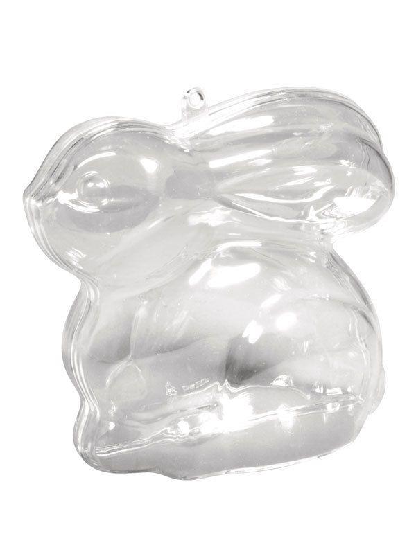 Acryl Form Hase transparent teilbar 8 cm Gießform Ostern Osterhase
