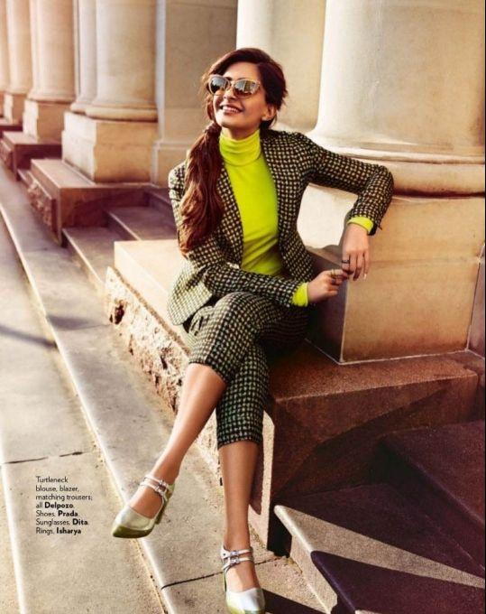 Sonam Kapoor #photoshoot for Vogue December 2015.