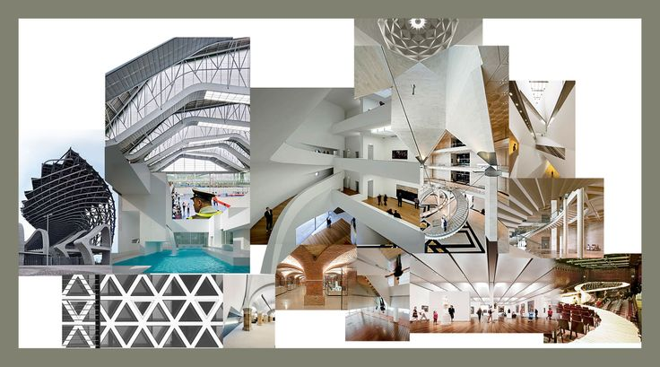 Architects Home(cultural center)-architecture collage