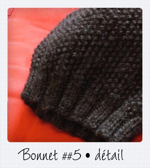photo tricot patron tricot bonnet point de riz 8