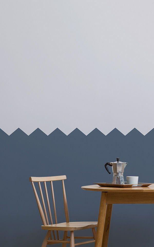 Blue Two Tone Striped Wallpaper Mural Muralswallpaper Geometric Wallpaper Geometric Wallpaper Murals Striped Wallpaper