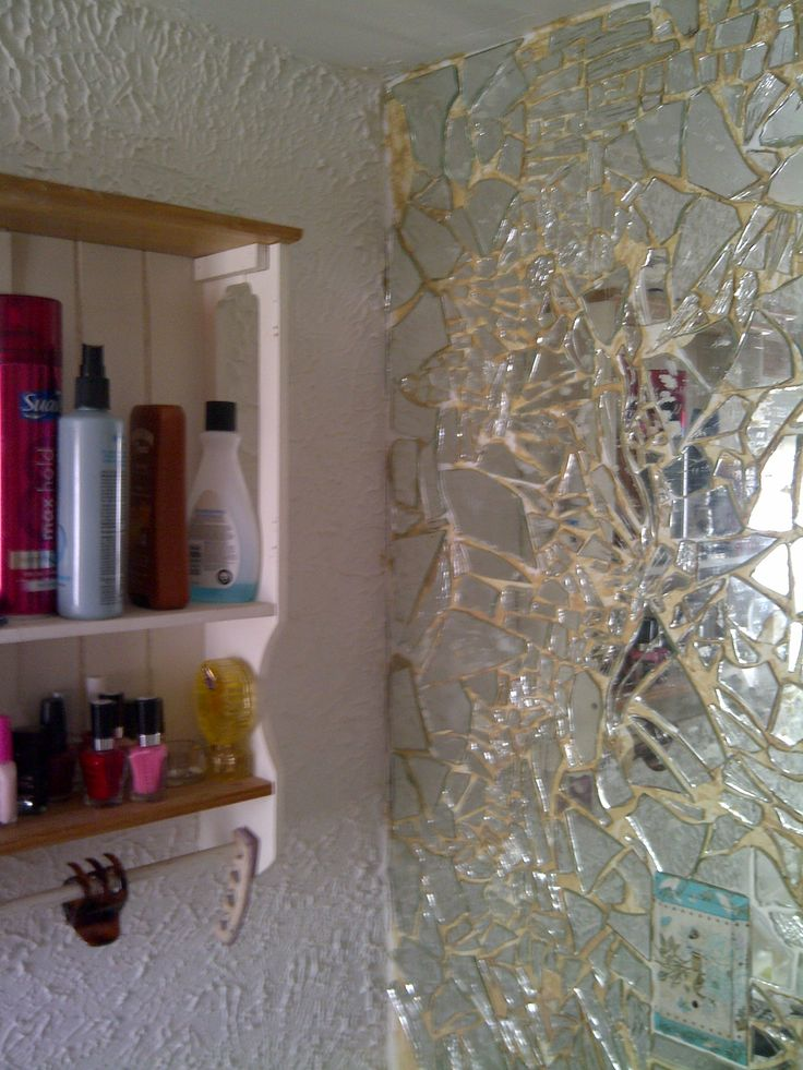 Wall Decor Using Mirrors : So you ve broken a mirror very large floor length