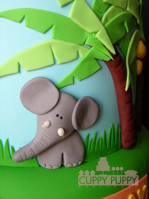 jungle cake by Cuppy Puppy Mommy Joanna, via Flickr