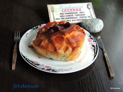 Moje Małe Czarowanie: Tort z kaszanką w cieście filo