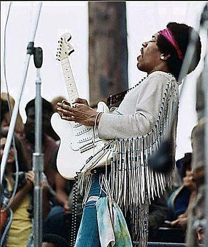 Jimi Hendrix. Woodstock 1969