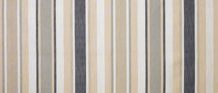 Awning Stripe Charcoal Cotton/Linen Fabric at Laura Ashley