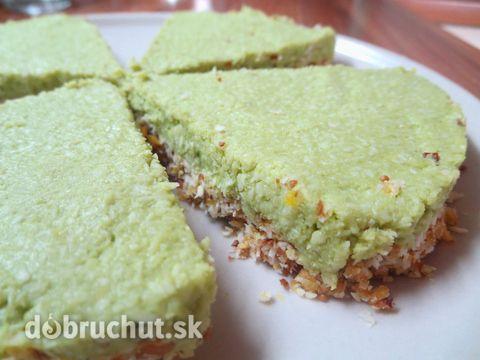 Fotorecept: Kokosovo-citrónový nepečený koláč s avokádom