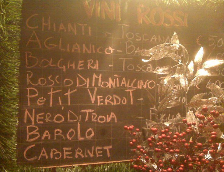 Osteria Ai Pugni - Ponte Ai Pugni  And now the todays' specialties : Osteria Ai Pugni Dec,2nd 2014 wine list...ops! Wine Board