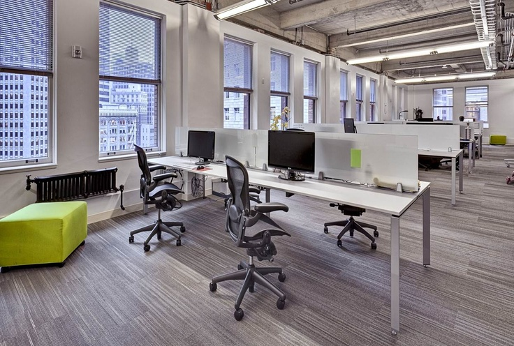 Open office view building interiors we like pinterest for Open space interior design