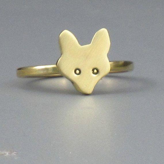 Golden Fox Ring  Free Shipping by FancyBrandRings on Etsy, $16.00