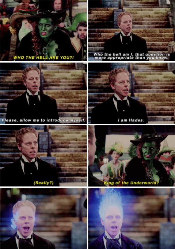 """""""Really? King of the Underworld?"""" - Hades and Zelena #OnceUponATime"""