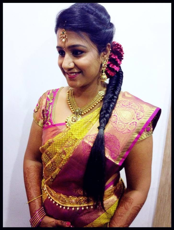 Indian Bride 39 S Reception Hairstyle Created By Swank Studio Fishtail
