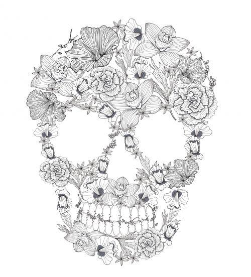 Sugar Skull Coloring Page 1 Coloring