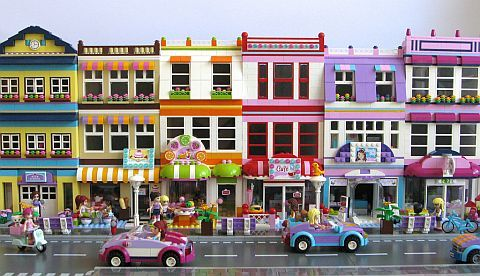 Lego Friends town houses