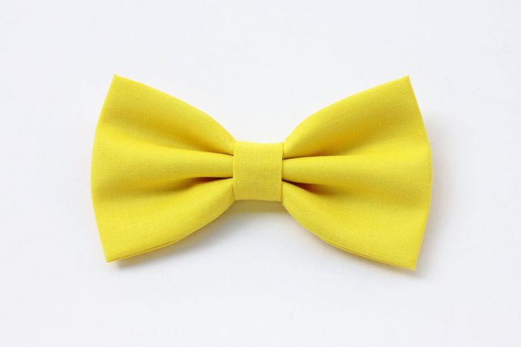 Papillon giallo limone per uomo,farfallino giallo,papillon per matrimonio,regalo per lui,nozze,accessori cerimonia,sposo,matrimonio estate di ScoccaPapillon su Etsy