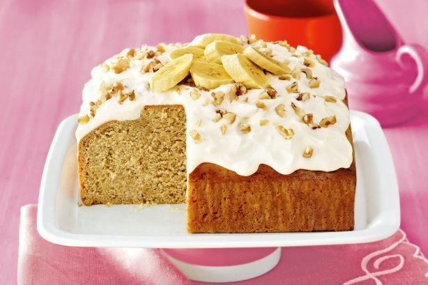 So simple - just mix, bake and enjoy our healthy twist on a classic banana cake.