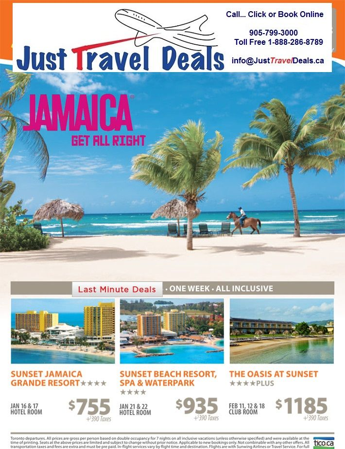 Jamaica Vacation Deals from $755