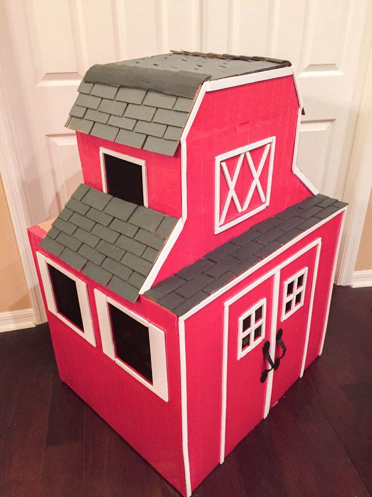 cardboard barn house • vanilla spring design  cardboard