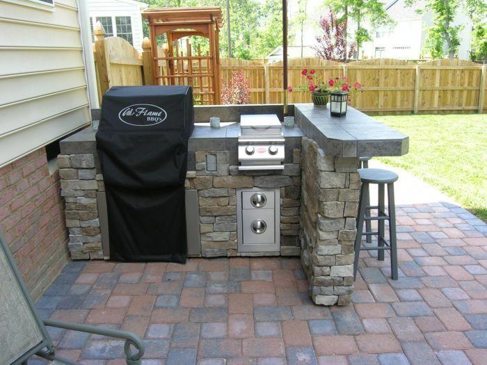Bauen Sie Ihre eigene Outdoor-Küche – 23 Beispiele für hausgemachte Gartenküchen!, #Build #examples #garden #küchen #küchen #outdoor