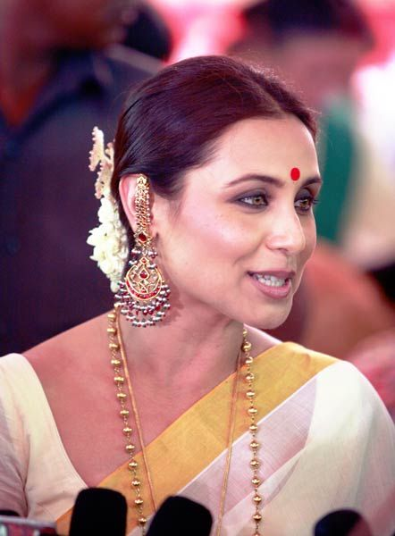 Rani mukherjee on Kerala saree