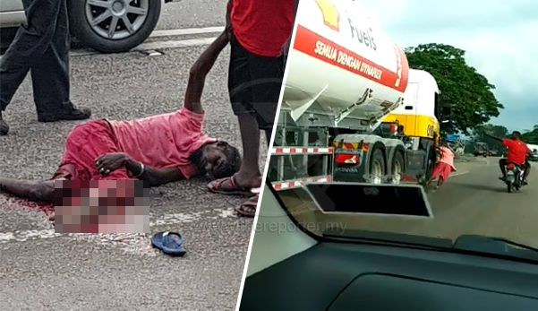 (Video) Padah berlagak samseng kaki hancur digilis lori   Viral di media sosial seorang lelaki hancur kaki kanannya digilis lori minyak ketika mangsa cuba menaiki kenderaan yang sedang bergerak itu.  Dalam kejadian yang berlaku pada petang semalam di Buluh Kasap Segamat Johor mangsa bersama rakannya menunggang motosikal tanpa memakai helmet di sebatang jalan dua lorong secara perlahan.  Berdasarkan video berdurasi 30 saat itu kedua-duanya dipercayai cuba menghalang laluan lori tersebut…