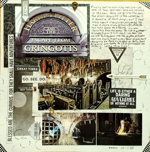 Escape From Gringotts Scrapbook Com This Pics From The Web Universal Studios Orlando Harr Harry Potter Scrapbook Disney Scrapbook Disney Scrapbooking Layouts