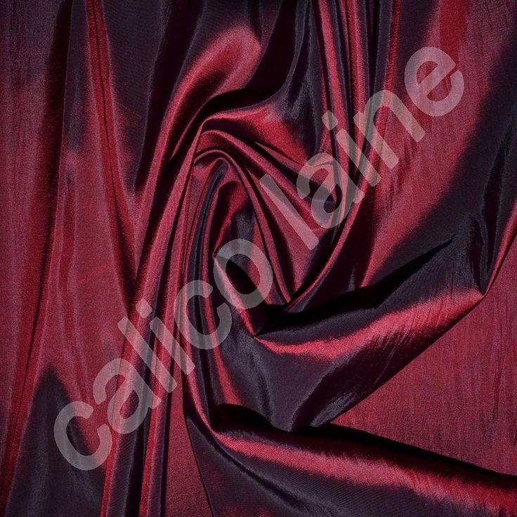 Burgundy Taffeta Fabric 10