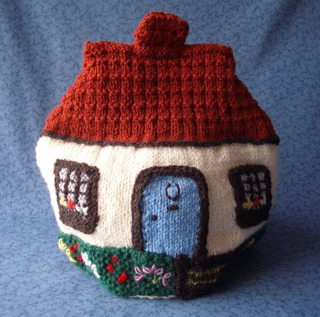 Flowers in the Window: My Mum's Knitted Tea Cosies