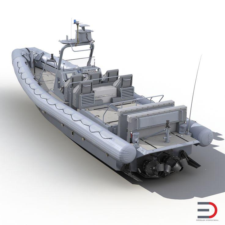 3d model of Naval Special Warfare Rigid Hull Inflatable Boat RHIB http://www.turbosquid.com/3d-models/3d-naval-warfare-rigid/959000?referral=3d_molier-International