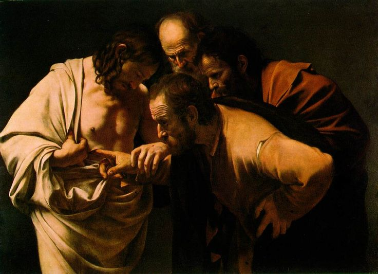 The Incredulity of Saint Thomas - a painting by the Italian Baroque master Caravaggio, c. 1601–1602.