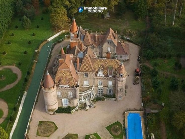 Castle for sale of the XIX century in France  Full details: www.immobiliarecaserio.com #property #castle #France #Dordogne