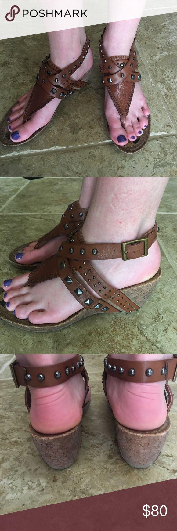 "Ladies wedge sandal Ladies cork wedge studded sandal by Sam Edelman!  2 1/2"" wedge. Never worn, perfect condition! Sam Edelman Shoes Wedges"