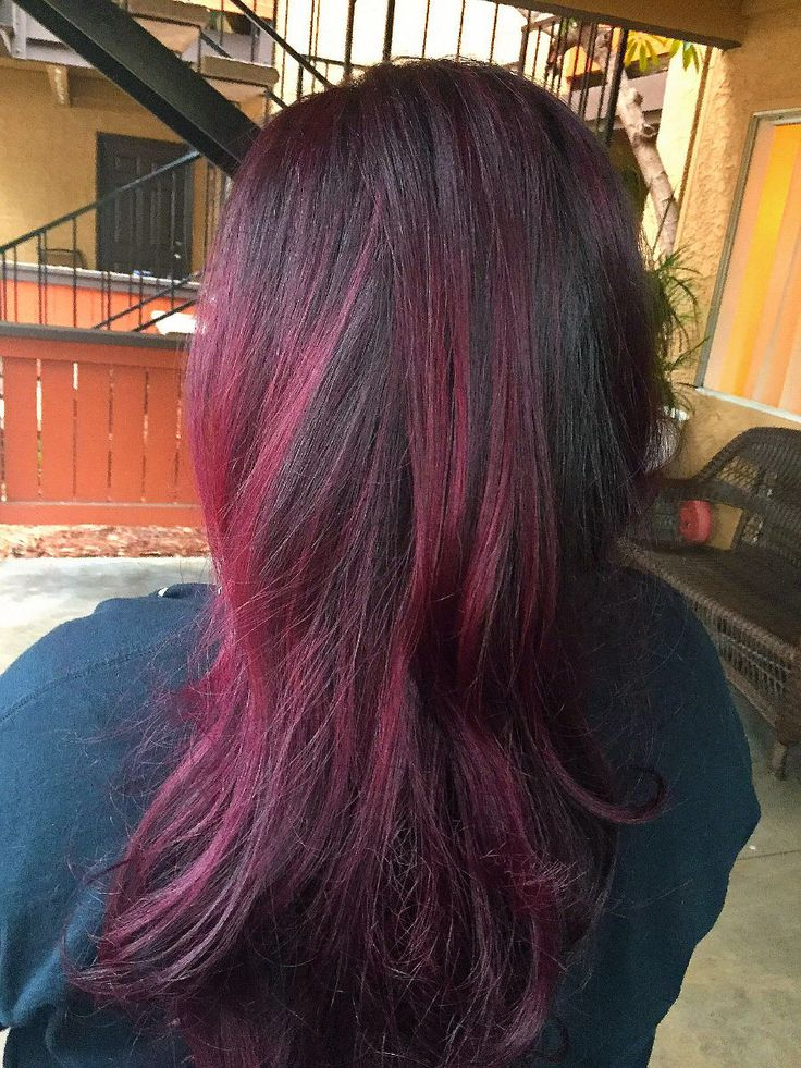 Vibrant Violet red hombre hair by thal13 ... I love the L series by schwarzkopf