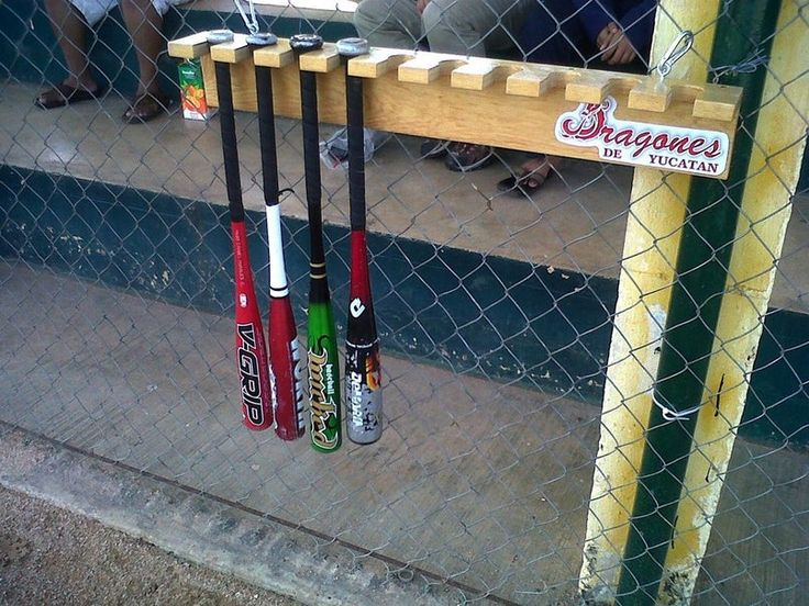 Baseball Bat Rack   Backyard baseball, Baseball dugout ...