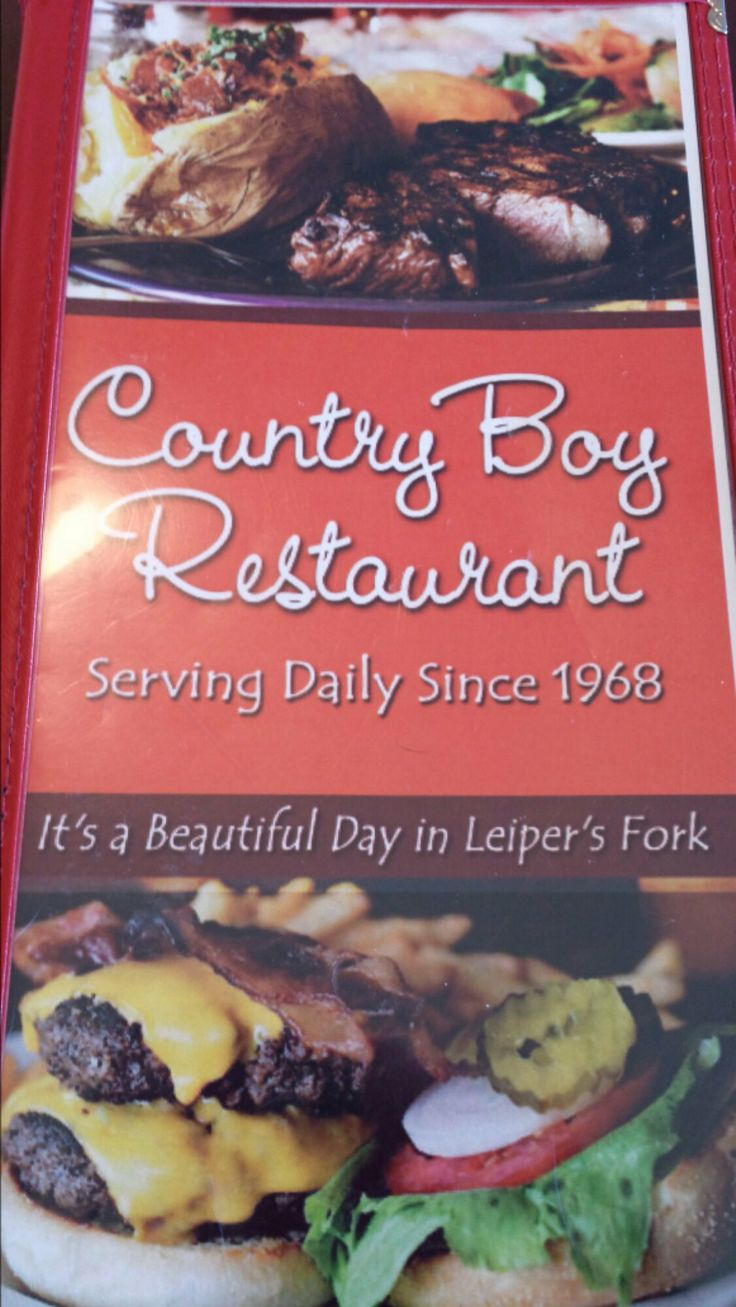 Country Boy Restaurant in Leiper's Fork, TN - a must go!