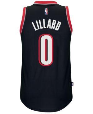 adidas Men's Damian Lillard Portland Trail Blazers Swingman Jersey - Black XXL