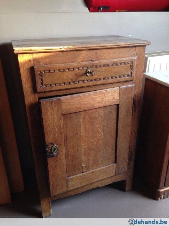19 de eeuw kastje met lade en deur te koop