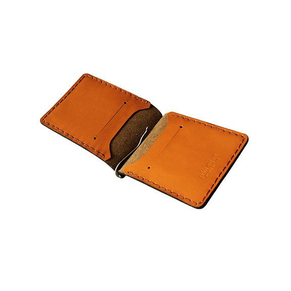 Brown Chromexcel Horween Leather Money Clip Wallet