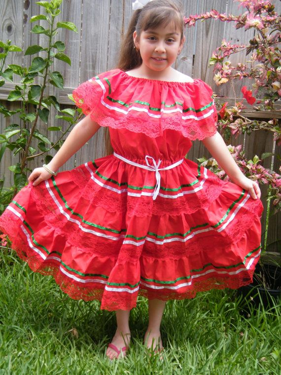 9  10 yrs old  Mexican Fiesta Dress