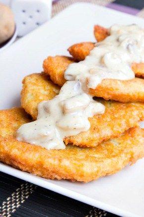 Crispy Cheesy Mashed Potato Cakes