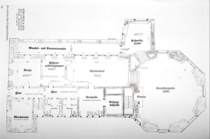 Original ground floor plans das kehlsteinhaus for Eagle nest home designs