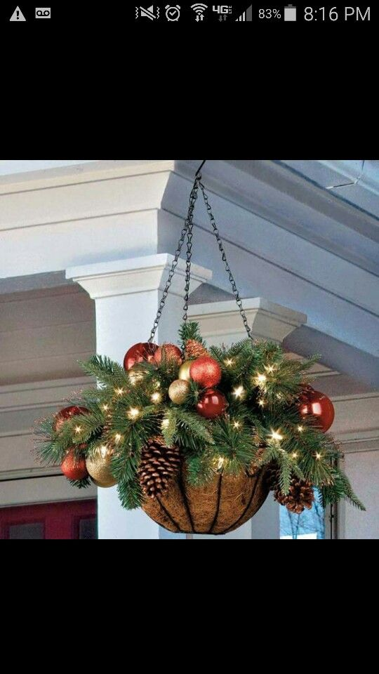 Hanging basket for Christmas