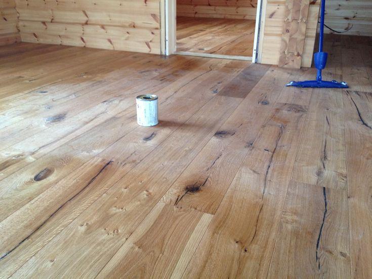 Zrubové domy - drevená podlaha Kährs, Parador