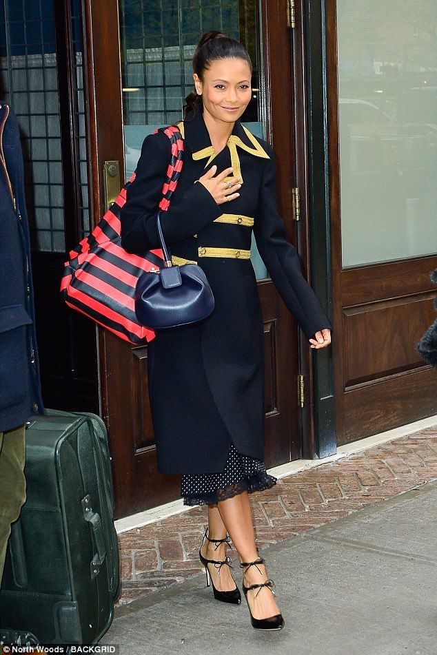 On point! Thandie Newton was demonstrating her sartorial intelligence again on Friday as s...
